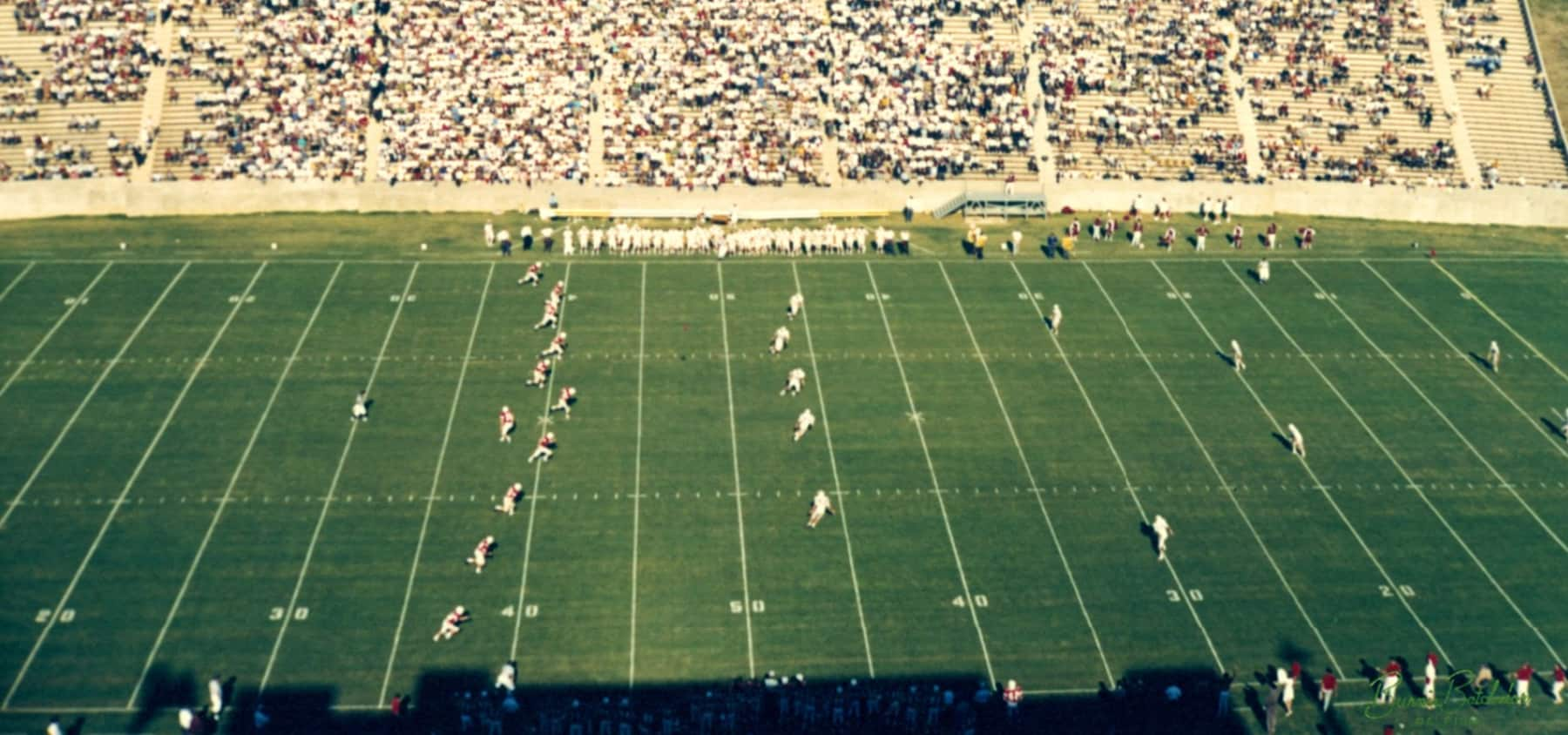 Kickoff on opening day at Carter-Finley Stadium