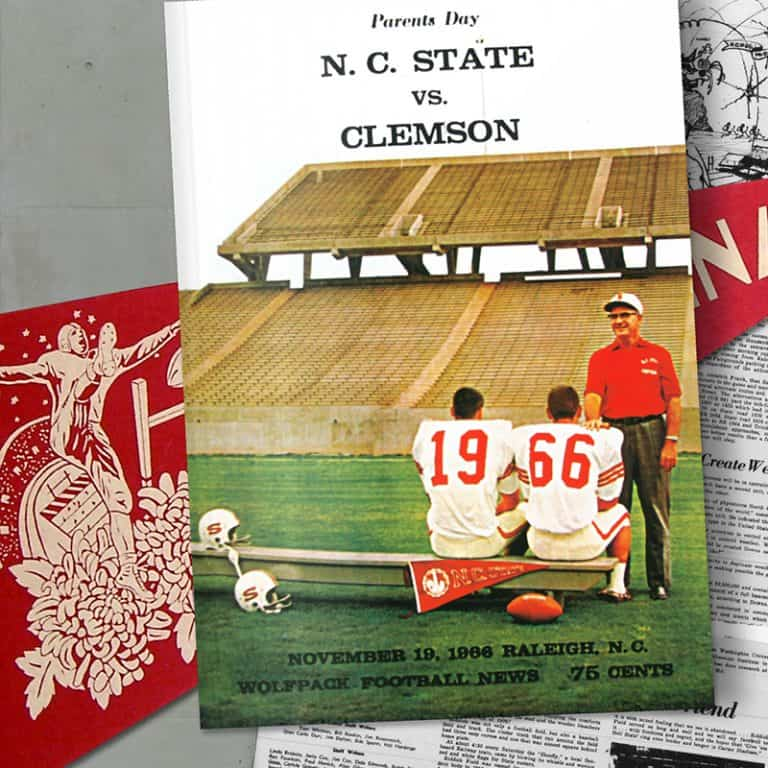 Game day program booklet from 1966