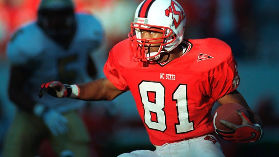All-America wide receiver Torry Holt running with the football