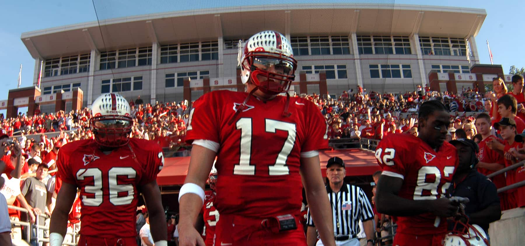 Quarterback Philip Rivers enters Carter-Finley Stadium