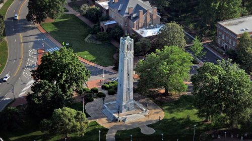 Aerial photo of the belltower
